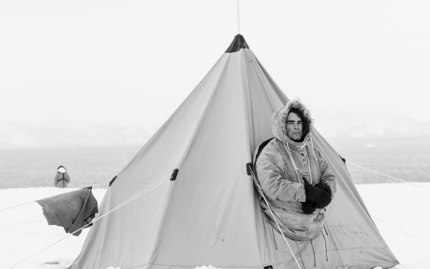 Recreation of Antarctic expedition camps